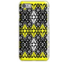 Yellow tech pattern iPhone Case/Skin