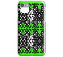 Green tech pattern iPhone Case/Skin