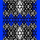 Blue tech pattern by Cranemann