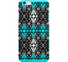 Teal Tech Pattern iPhone Case/Skin