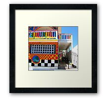 """Crayon House"" Mujeres Island, Mexico Framed Print"