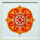 Celtic miniature, orange II by Marta Lett
