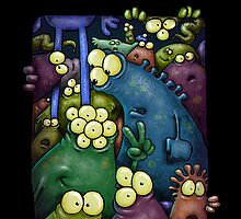 A crowd of iphone dwelling aliens ... by Bleee