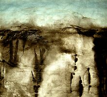 cliff wall... ancient sketches by banrai