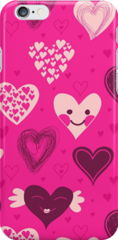 Cute hearts iPhone case by Anastasiia Kucherenko