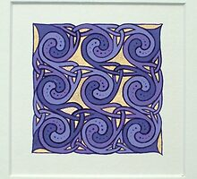 Celtic miniature, purple I by Marta Lett