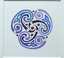 Celtic miniature, purple II by Marta Lett