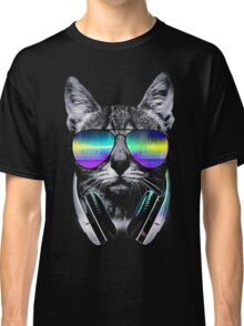 Cool music cat Classic T-Shirt