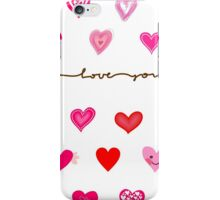 hearts (iphone case + tshirt + sticker) iPhone Case/Skin