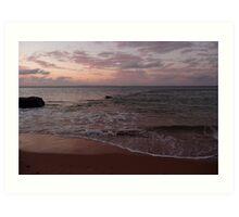 Rose sea: Phillip Island, Australia Art Print