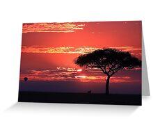 African Dawn Greeting Card