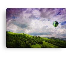 Memories of Purple-Green Canvas Print