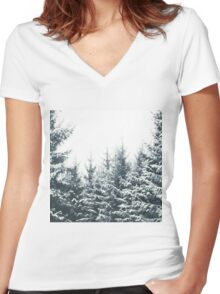 In Winter Women's Fitted V-Neck T-Shirt