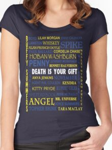 Joss Whedon - Death Is Your Gift  Women's Fitted Scoop T-Shirt
