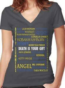 Joss Whedon - Death Is Your Gift  Women's Fitted V-Neck T-Shirt