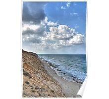 Beach view with dramatic sky Poster