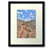 Blue sky over a dune Framed Print