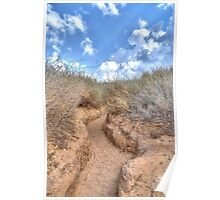 Blue sky over a dune Poster