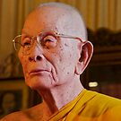 Fiberglass monk, Wat Phra Sing, Chiang Mai, Thailand by John Spies