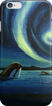 Whale Watching Iphone Case by Sarah  Mac
