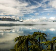 Tranquil Tarawera  (Pano) by Michael Treloar