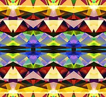 Colorful Abstract Geometric Symmetry by Phil Perkins