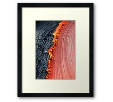 River of molten lava, close-up, Kilauea Volcano, Hawaii Islands, United States Framed Print
