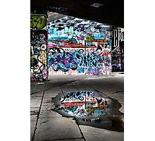 London Southbank Skate Graffiti Photographic Print