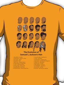 The Evolution of Samuel L. Jackson's Hair. T-Shirt