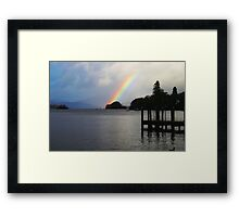 Rainbow over Windermere Framed Print