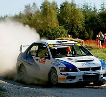 Mitsubishi Evo on Gravel by Edward Arrowsmith
