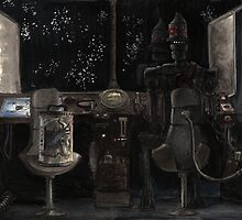 IG-88 conversing with the creator by Will Pleydon