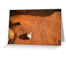Lizard Tracks - Broome, WA. Greeting Card