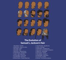 The Evolution of Samuel L. Jackson's Hair. by KRDesign