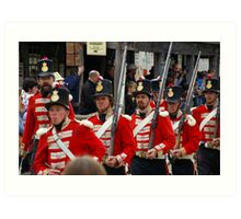 Left, Rite! The Redcoats Are Coming Art Print