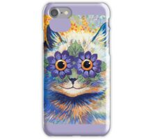Vintage Flower Cat Art iPhone Case iPhone Case/Skin