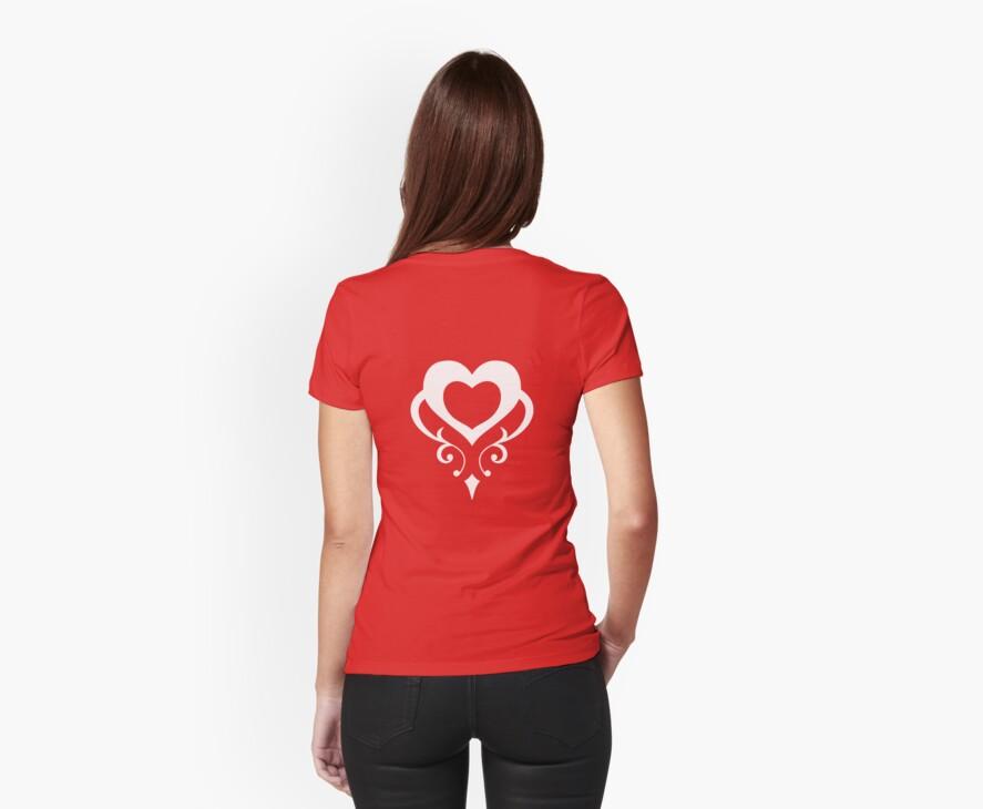 Sailor Moon - Teletia S Shirt (White Heart) by DrFrizzy