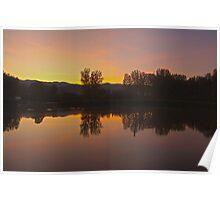 Landscape,lake,grass Poster