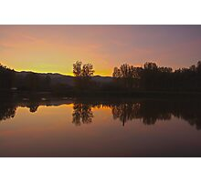 Landscape,lake,grass Photographic Print