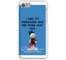 99 PROBLEMS Signature+ DarkBlue iPhone Case/Skin