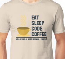 programmer : eat sleep code coffee - hello world Unisex T-Shirt