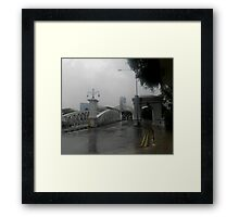Downpour Singapore Framed Print