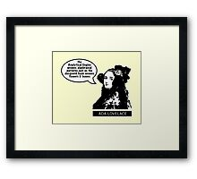 Ada Lovelace - Analytical Engine Framed Print