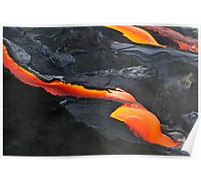 RIver of molten lava, close-up, Kilauea Volcano, Hawaii Islands, United States Poster