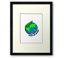 Peas on Earth Framed Print