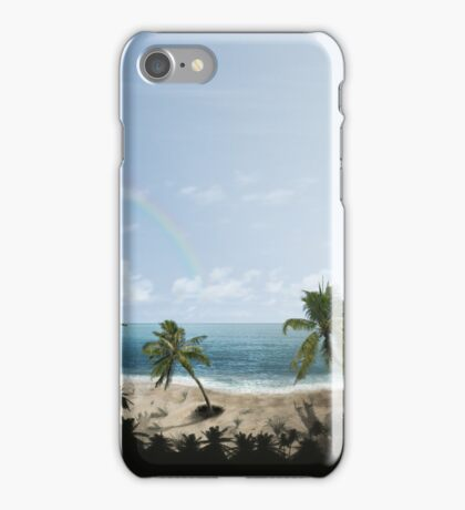 Palm Beach at Day iPhone Case/Skin