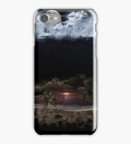 Palm Beach at Night iPhone Case/Skin