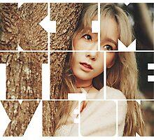 Kim Taeyeon 'I' Typography Photographic Print