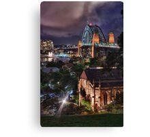 Night time city lights Canvas Print