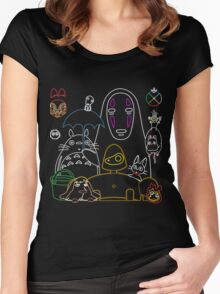 Ghibli mix v2 Women's Fitted Scoop T-Shirt